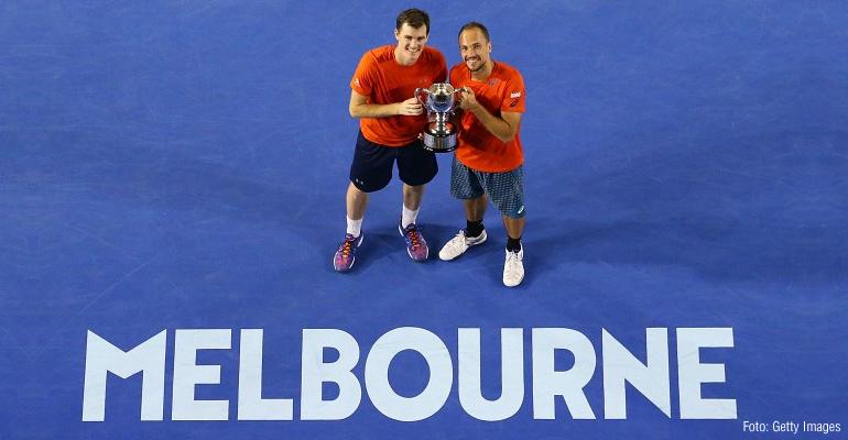 Dobradinha! Bruno Soares é campeão nas duplas masculinas e mistas no Australian Open