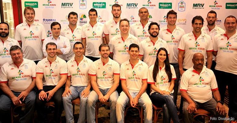 Equipe 2016/2017 do Vôlei Brasil Kirin é apresentada