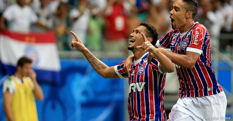 Jogadores do Bahia elogiam desempenho contra o Santos