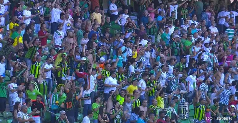 América-MG vibra com triunfo em cima do Santos